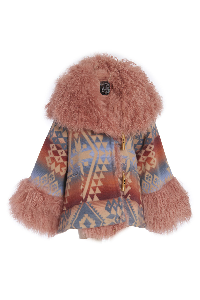 Flamingo Canyonlands Shearling Cloak