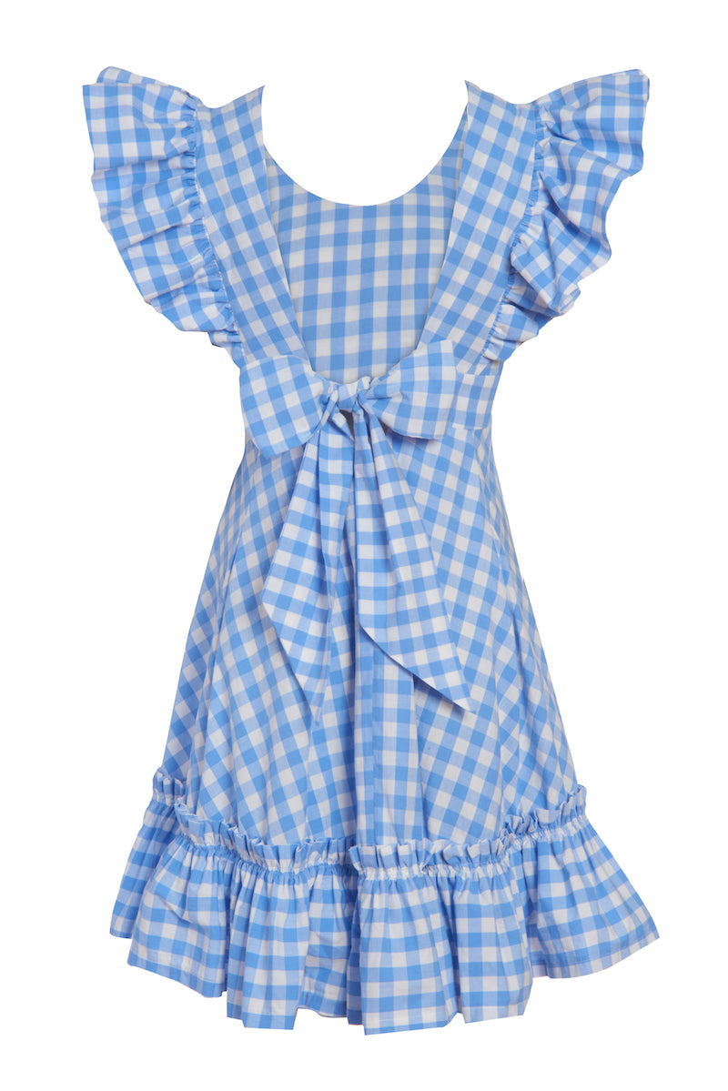 Quinoa Dress Powder Blue Gingham