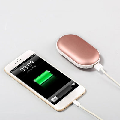 Hand Warmer & Portable Phone Charger 2-in-1 Device - ROSE PINK
