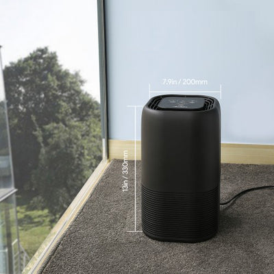 Compact Air Purifier With True Hepa and Active Carbon Filters