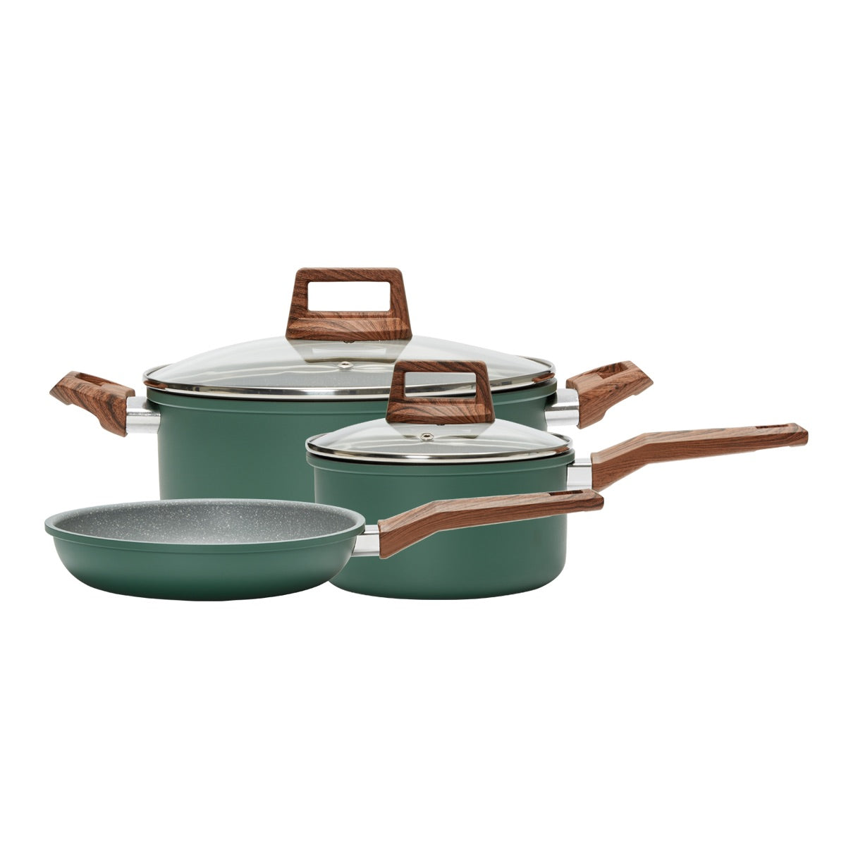 5 PC Cookware Set- GREEN