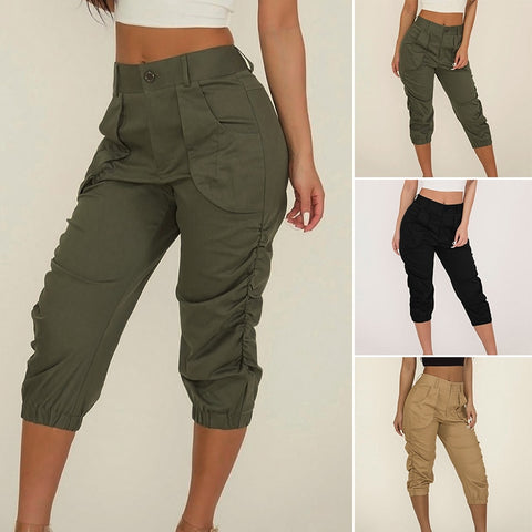 Cropped Capri Pants Trousers