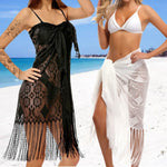 Sexy Lace Long Tassel Bikini Swimwear Cover Up