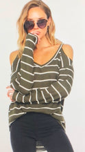 Load image into Gallery viewer, Susan Striped Cold Sweater