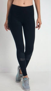 Motto Mesh Full Leggings Black
