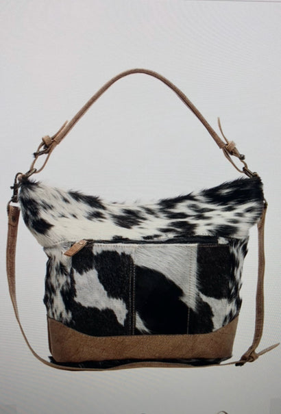 Dual Strap Hairon Shoulder Bag