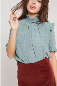 Beth Top In Sage
