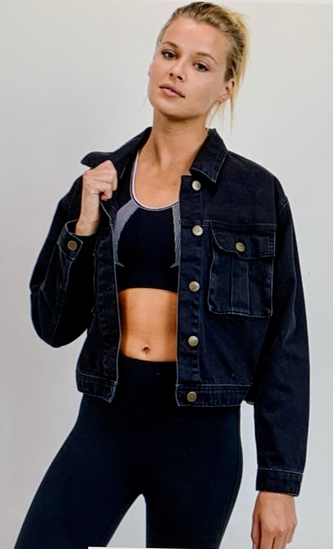 Buckled Denim Jacket