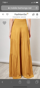 City Palazzo Pants in Gold