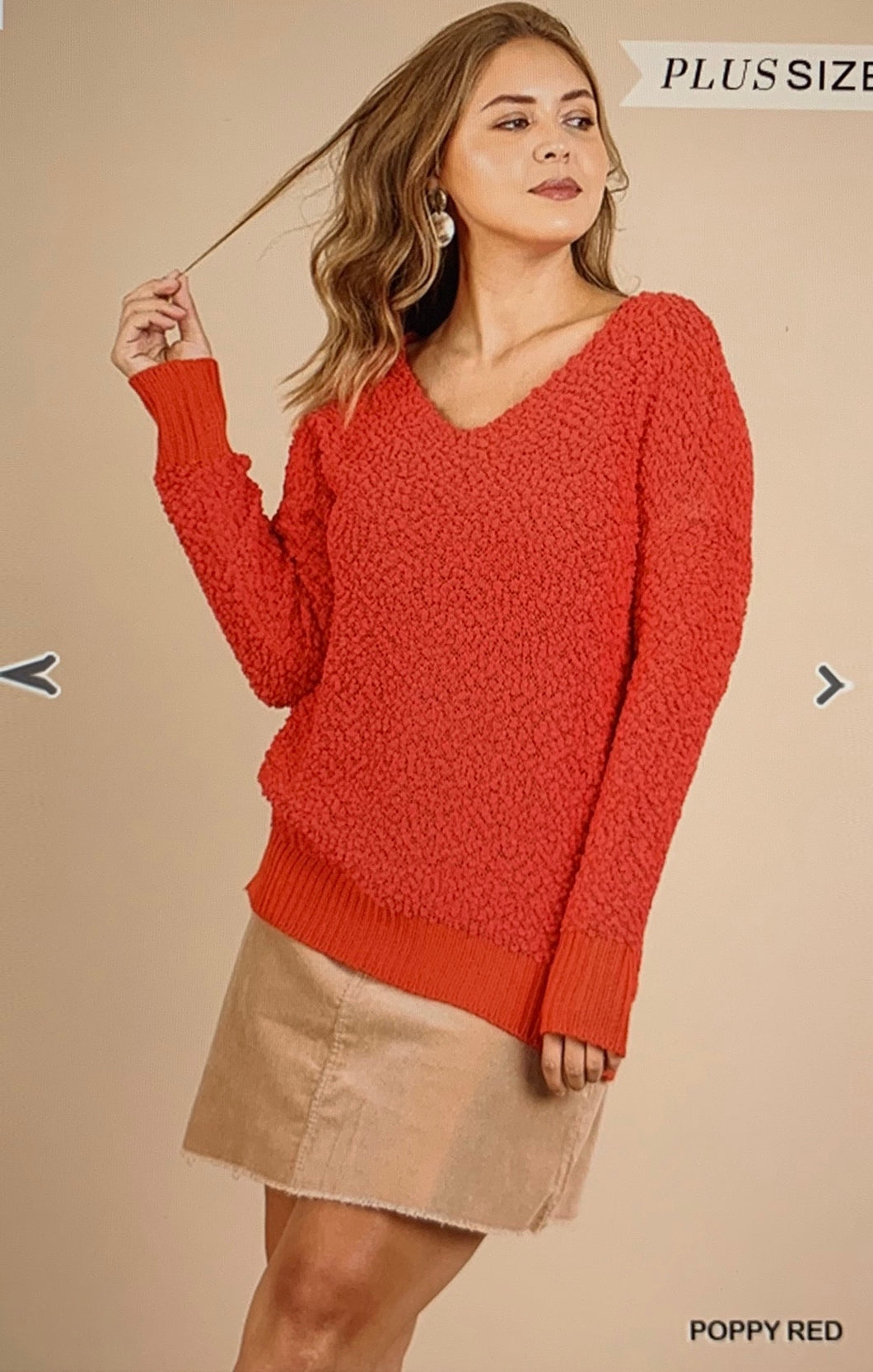 Uncomplicated Popcorn Sweater