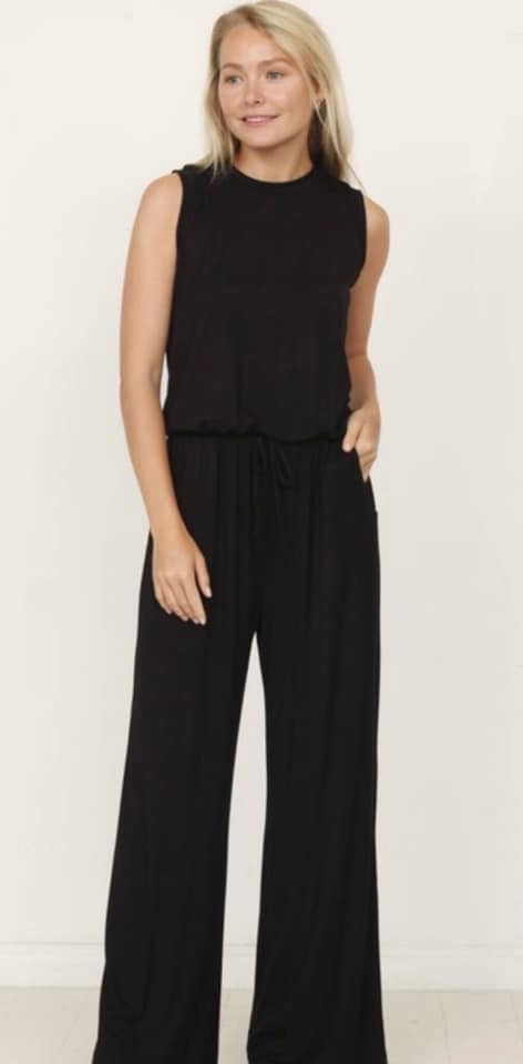 Drawstring Pocket Jumpsuit