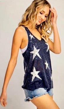 Star Tank in Navy