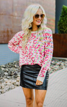 Load image into Gallery viewer, Meridith  Pink Leopard Sweater