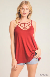 Strappy Tank in Burgundy