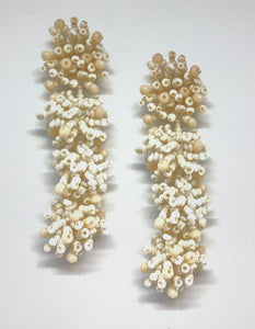 Malibu Beaded Cluster Drops Shell