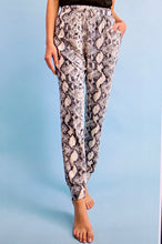 Load image into Gallery viewer, Snakeskin Joggers