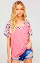 Load image into Gallery viewer, Pink Leopard Dot Tee