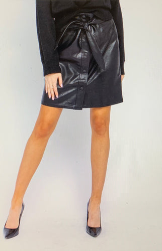 Bradette Faux Leather Mini Skirt