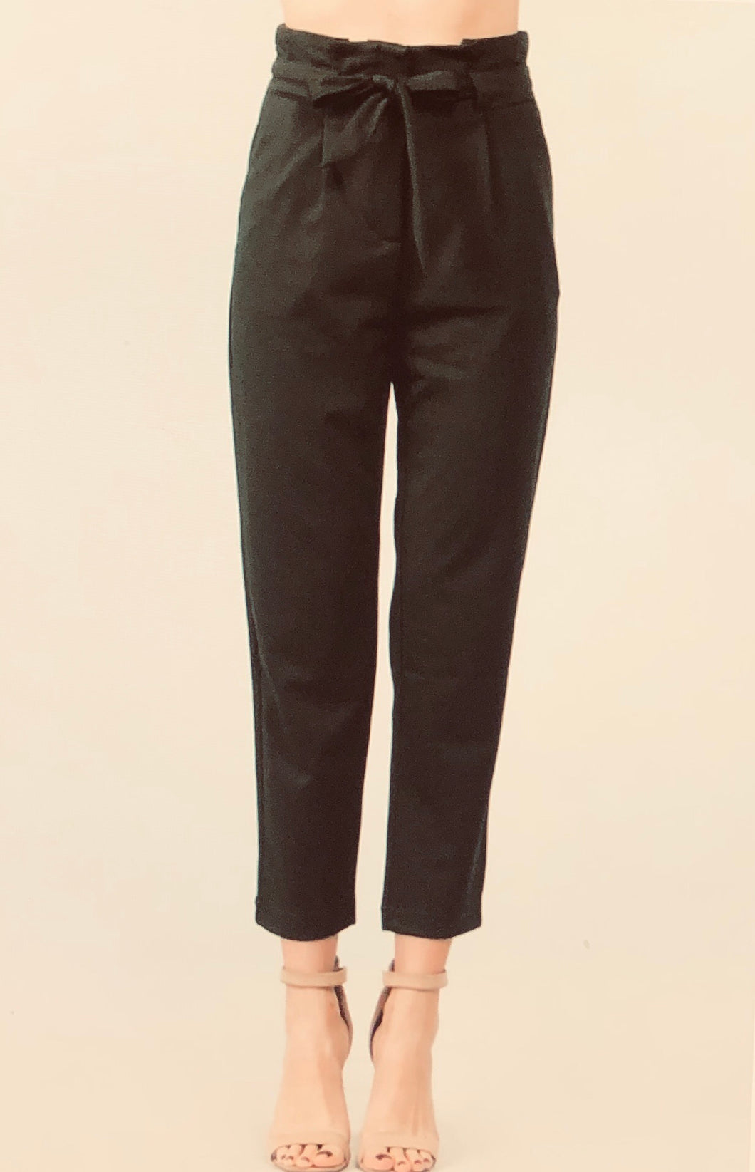 Paper Bag Pants in Black