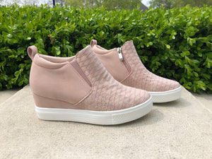 Wedge Champ Sneakers in Blush