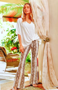 Snakeskin Flared Leggings