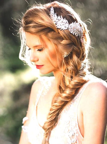 Beautiful Hairpiece To Accent Your Romantic Low Updo Hair