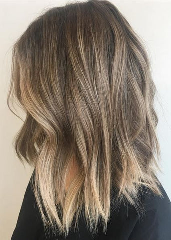 Autumn Dyed Hair Color Balayage Hair