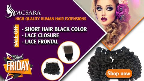 Black Friday: sale off up to  50% for high quality human hair extensions