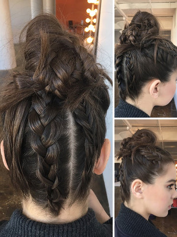 Hailee Steinfeld showed off her stunning hair here and this braided top knot helped her look so stylish and trendy.