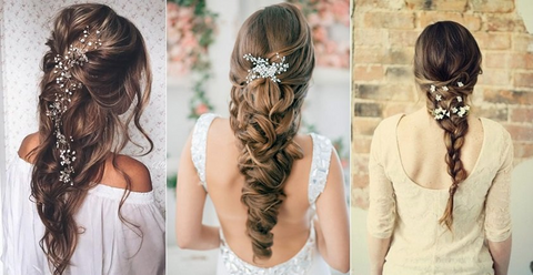 Braid large - Wedding Hairstyles And Make-Up For Beautiful Brides-To-Be