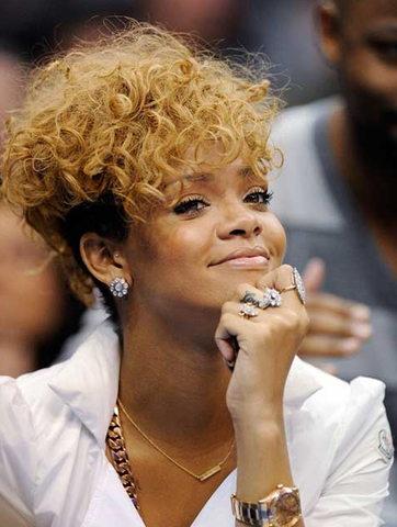 Rihanna Blonde Hair Caramel Blonde Undercut