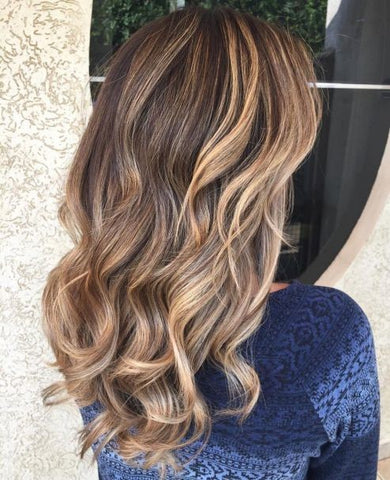 Brown Hair With Caramel And Red Highlights