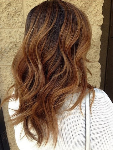Autumn Dyed Hair Color Chestnut Brown Hair