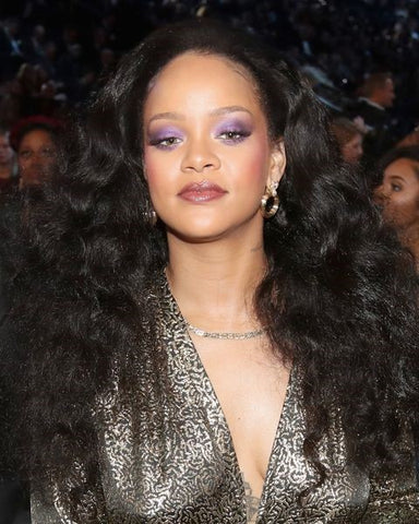 Rihanna Black Hair Extra Long Brushed Out Curls