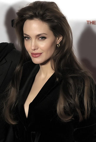 angelina jolie black hair