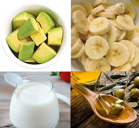 Hair will be dry, split ends and damaged when you have to bleach hair to light colors. The following mask of avocado and banana hair will help you restore damaged hair while preserving the color of the hair