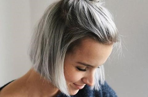 Autumn Dyed Hair Color Gray Hair