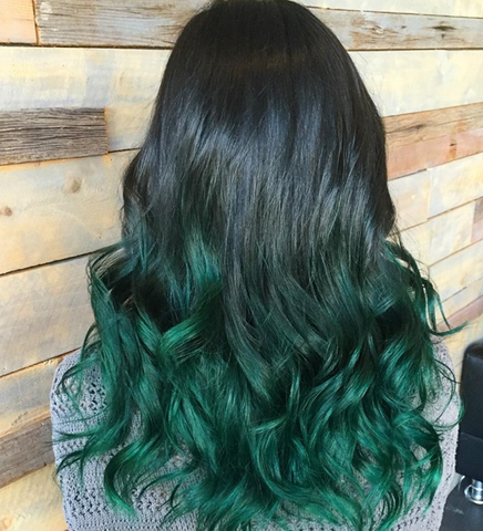 Autumn Dyed Hair Color Green Hair