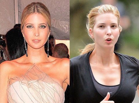 Ivanka Trump With makeup and without makeup, what is the difference