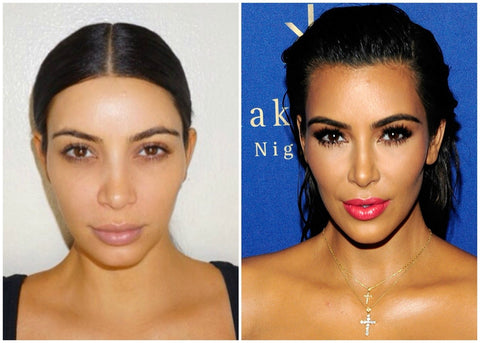 mcsara See How Different Kim Kardashian Looks Without Makeup And With Her Routine!