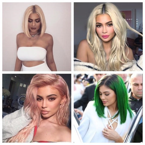 Kylie Jenner with perfect Wigs