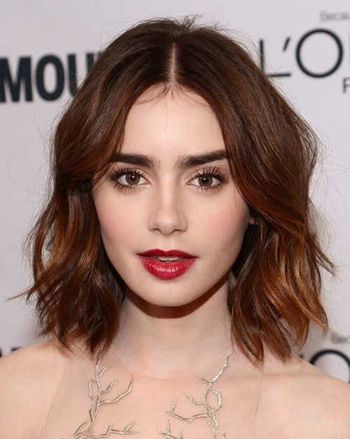 Lily Collins hairstyle