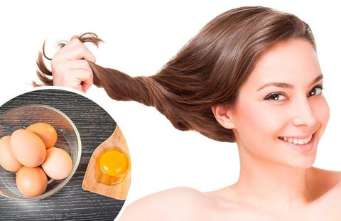 Make hair mask from eggs and yogurt large - MCSARA Hair
