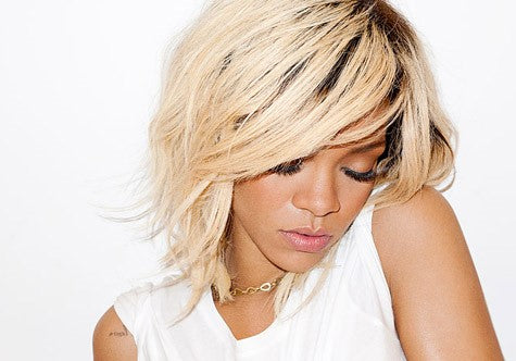 Rihanna Blonde Hair Platinum Blonde