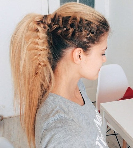 Ponytail and Lacy Braid