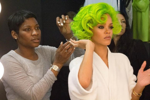 Rihanna Green Hair