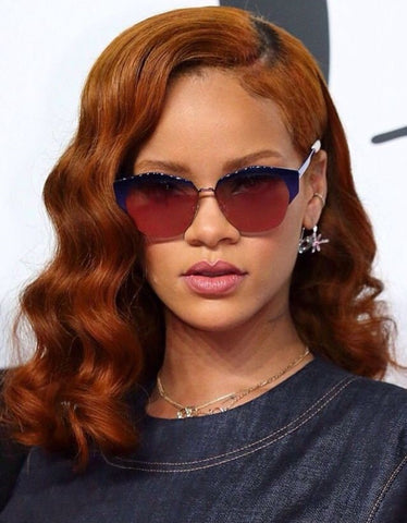 rihanna brown hair