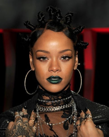 Rihanna With Bantu Knots