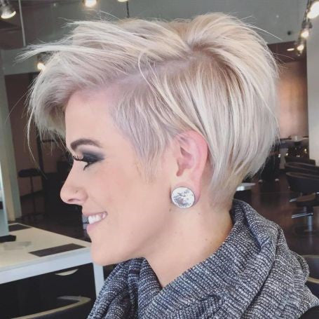 Short Haircut with Side Part