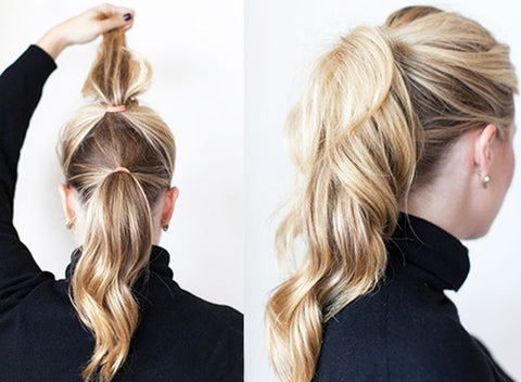 TRY A DOUBLE PONYTAIL